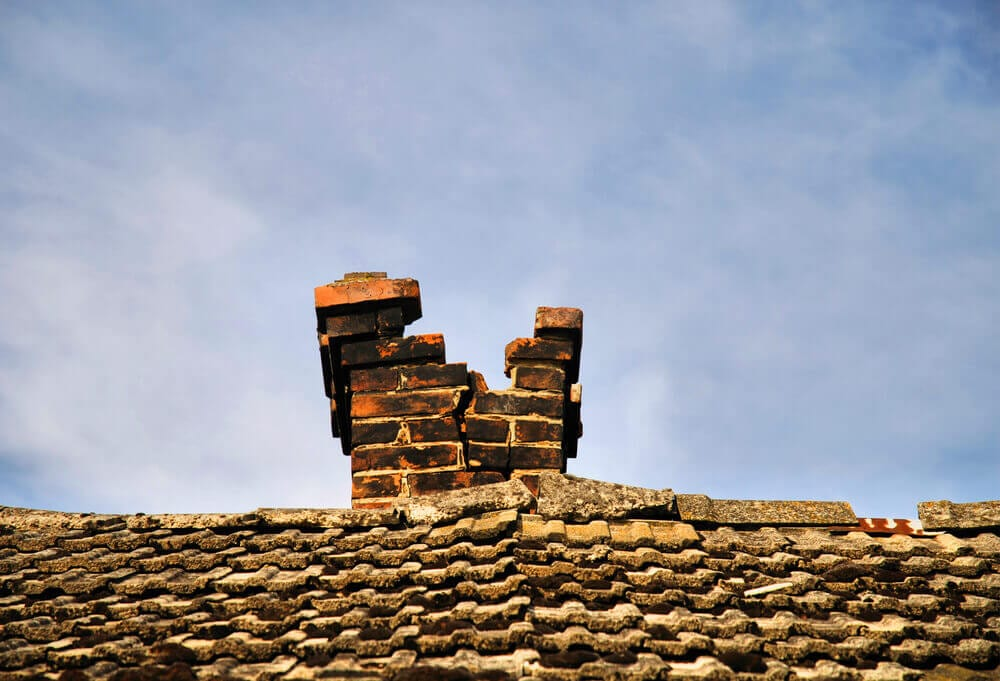 crumbling masonry with failing bricks
